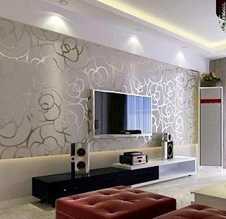 Model Desain Gambar Wallpaper Dinding Rumah Minimalis Ruang Keluarga