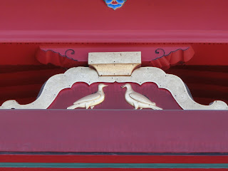 石清水八幡宮・阿吽の鳩