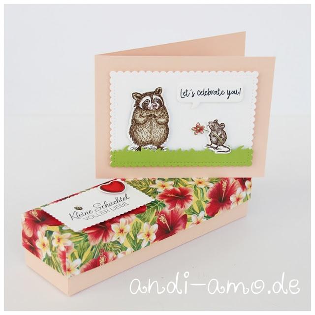 Geschenkset Karte und Box selbstgemacht