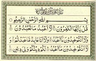 Teks Bacaan Surat Al Kafirun Arab Latin dan Terjemahannya