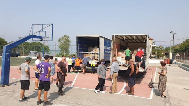 Έφτασε η βοήθεια  αλληλεγγύης του Δήμου Ναυπλιέων στους πυρόπληκτους στις Ροβιές Ευβοίας