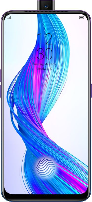 Realme X launched with pop-up selfie camera and under display fingerprint sensor in india - Price, specification in Hindi