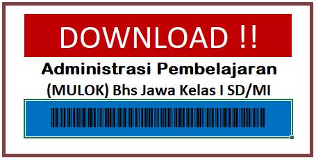 Administrasi K13 Mulok Bahasa Jawa Kelas 1 SD/MI Komplit Banget