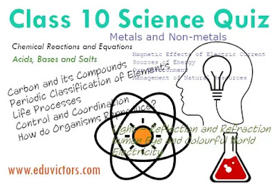 CBSE Class 10 - Science Quiz (2020)  (#eduvictors)(#cbseClass10Science)