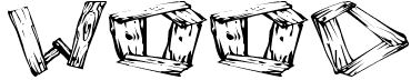 letras tipo madera