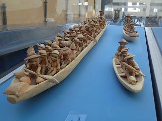 model Yoruba dugout canoes, Nigeria