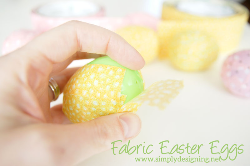 How to Make Fabric Covered Eggs Like You've Never Seen Before | come see what special item I used to make these cool fabric covered eggs which is like nothing you've ever seen before! | #easter #eastereggs #holiday #easterdecor #crafts
