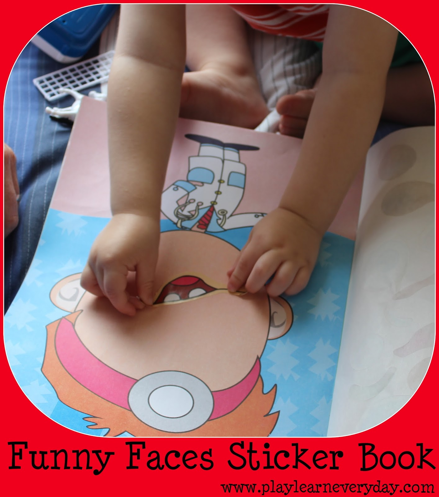 sticker funny faces 7 set