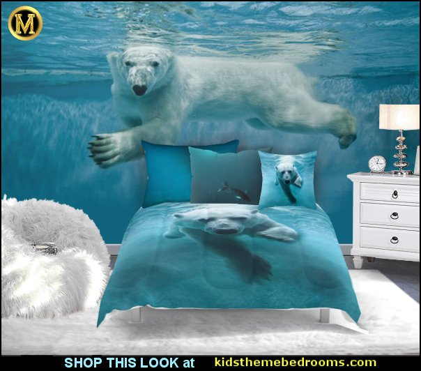 polar bear bedding polar bear mural