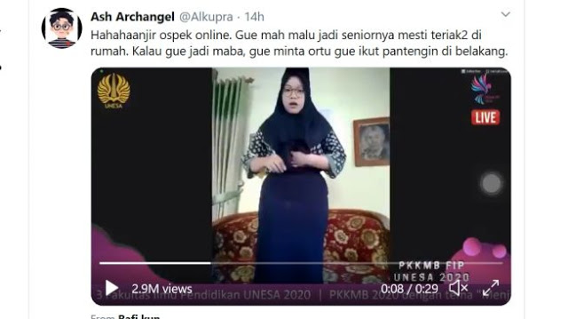 Video Ospek Unesa, Senior Bentak Mahasiswa Baru Gara-Gara Sabuk