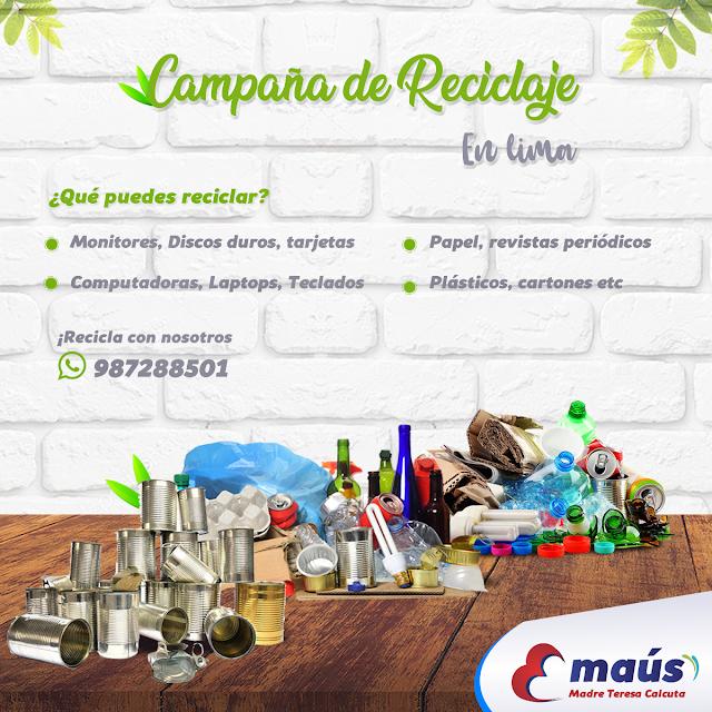 Campaña de reciclaje en Lima