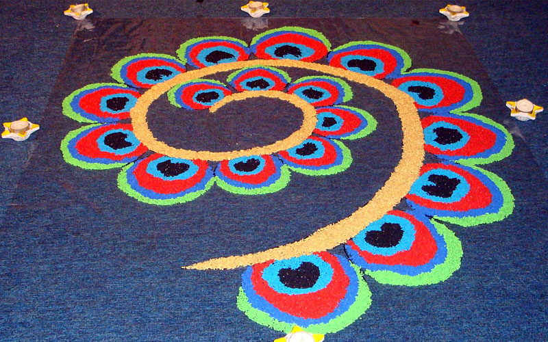 rangoli design for diwali 2018