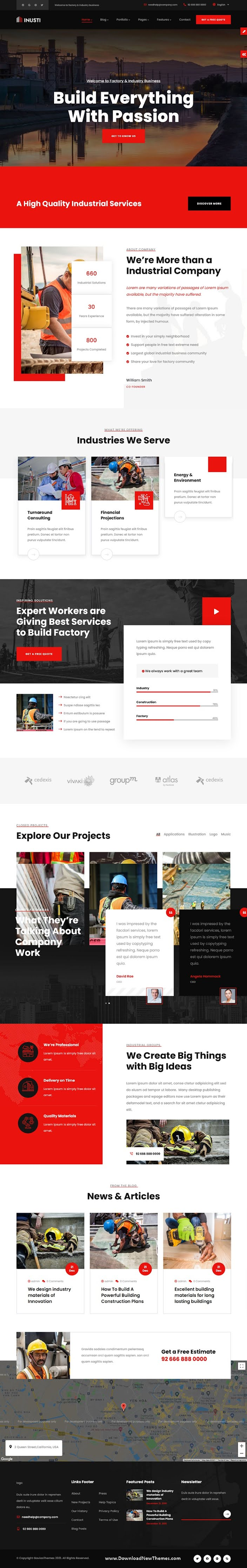 Industrial & Factory Business Drupal 9 Theme