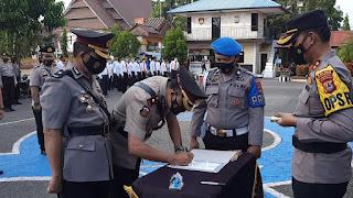 Kapolres Pangkep Pimpin Upacara Sertijab Wakapolres Pangkep