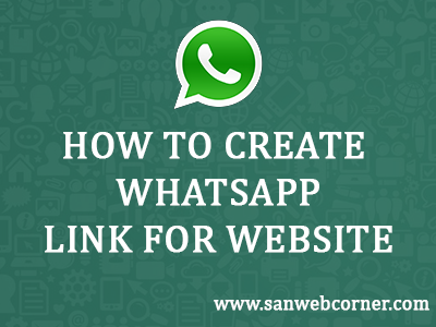 How to create whatsapp link for website