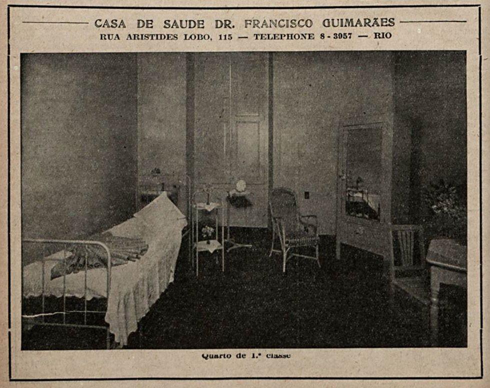 Propaganda antiga em 1932 da Casa de Saúde Dr. Francisco Guimarães veiculada no Rio de Janeiro