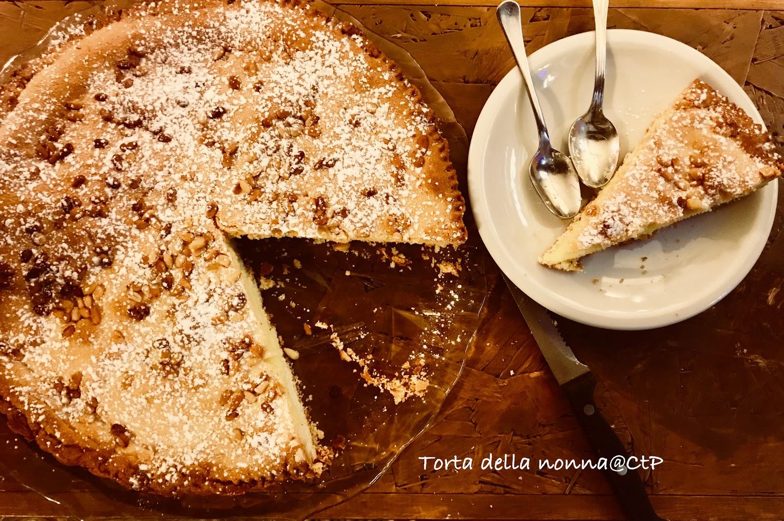 torta della nonna crema pasticceria pinoli alessandra ruggeri
