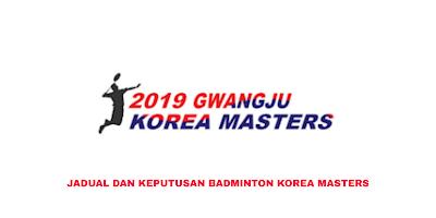 Keputusan Badminton Korea Masters 2019 (Jadual)