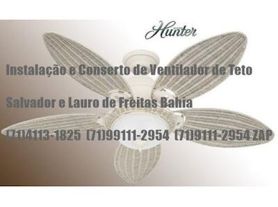 Ventilador de teto fazendo barulho consertamos em Salvador-BA-71-4113-1825