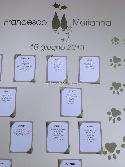 Segnaposto Matrimonio Gatto.Un Tableau De Mariage Con L Amore Per I Gatti Fair Lady Wedding