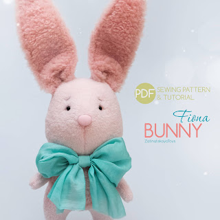 Easter craft Fiona bunny sewing pattern