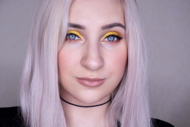 bright yellow makeup
