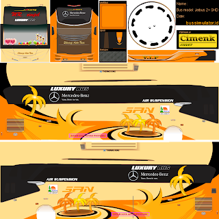 Download Livery Bus San Cimenk Gold