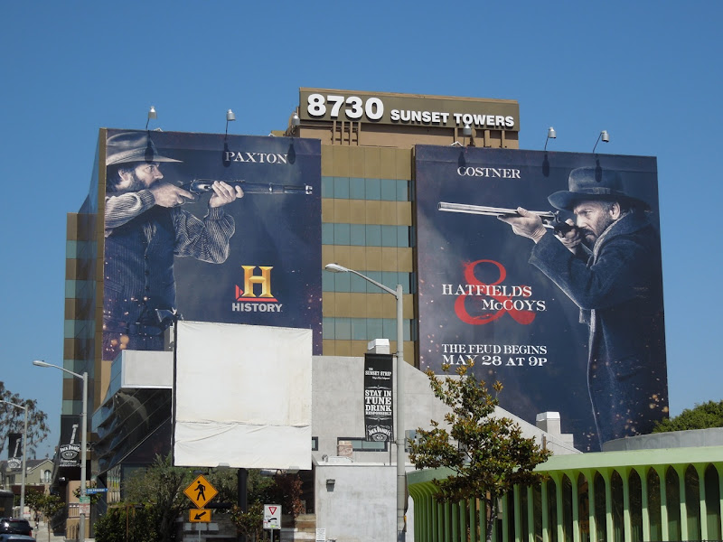 Giant Hatfields McCoys TV billboards