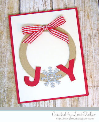 Modern Holiday Wreath card-designed by Lori Tecler/Inking Aloud-dies from My Favorite Things