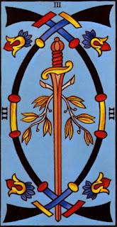 trois d'épée à l'envers