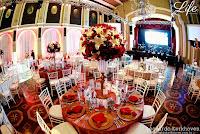 montagem das mesas da OAB RS no jantar anual do instituto do cancer infantil em porto alegre realizado no salão leopoldina da associação leopoldina juvenil em porto alegre