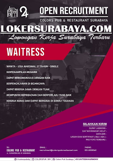 Open Recruitment at Colors Pub and Restaurant Surabaya May 2019