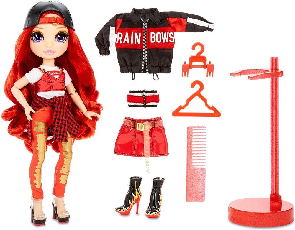 Шарнирная кукла Rainbow High Ruby Anderson с красными волосами