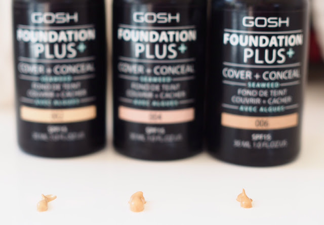 GOSH Cosmetics Foundation Plus 002 004 006 review with swatches Get Lippie 20160731