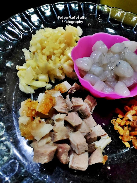 Ingredients For CHAU LUP-LUP Dish