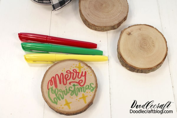 These markers are perfect for coloring, drawing and writing on wood. That makes this a great craft for a girls night out or crafternoon with the ladies...or a fun activity for the kids to do while they are out of school and need a boredom buster.   And in these strange times, they make a stress free activity to do after dinner on Thanksgiving or during the weekend while decorating for the holidays.