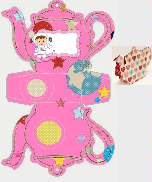 NASA Girls: Free Printable Teapot Box.