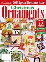 FIND BLUE RIBBON DESIGNS IN THE JUST CROSSSTITCH 2014 ANNUAL CHRISTMAS ORNAMENT ISSUE
