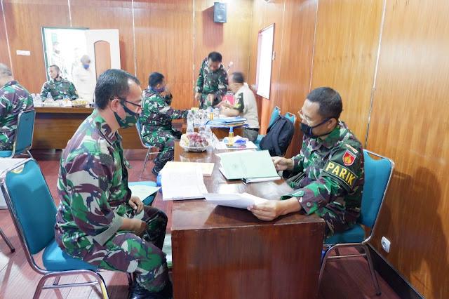 KodimKaranganyar - Tim Wasrik Kodam IV/Diponegoro Laksanakan Pengawasan dan Pemeriksaan di Kodim 0727 Karanganyar