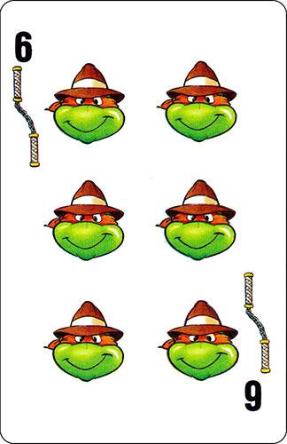 Baraja infantil Las Tortugas Ninja Fournier Carta Michelangelo 6
