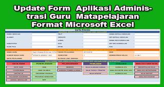 Update Form  Aplikasi Administrasi Guru  Matapelajaran Format Microsoft Excel