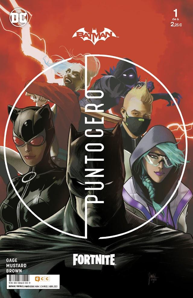 ECC Ediciones publicará la miniserie Batman/Fortnite: Punto Cero