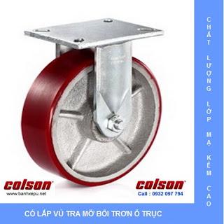 Bánh xe công nghiệp PU chịu tải trọng nặng 1,035kg | 7-10678-959 www.banhxepu.net