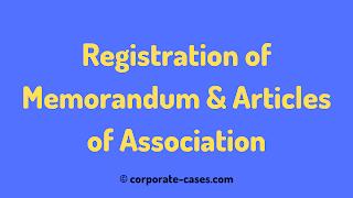 registration of memorandum and articles of association