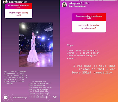 MNL48 Ash controversial statement regarding her graduation
