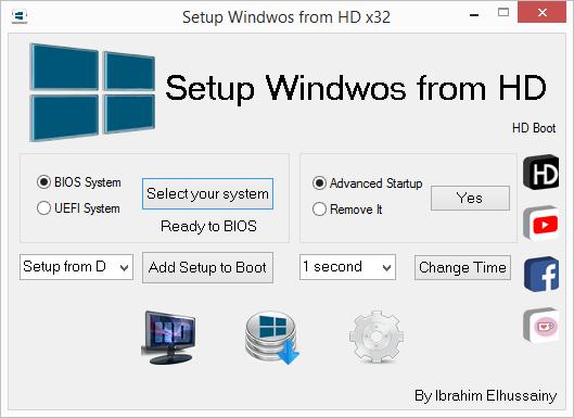 Setup Windows from HD