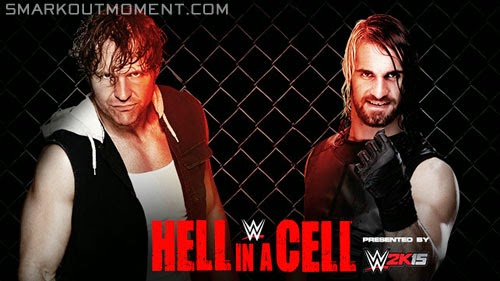 WWE Hell in a Cell 2014 ppv Dean Ambrose vs Seth Rollins match