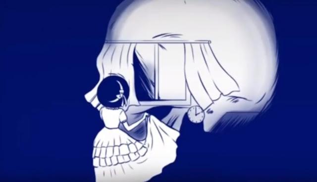 skeleton and girl