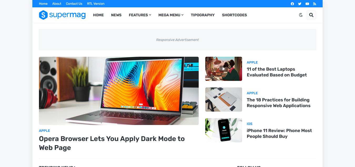 SuperMag Premium - Responsive Blogger Template