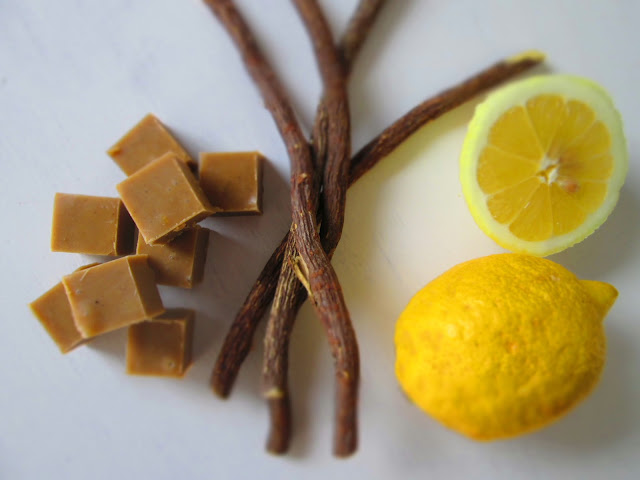 Fudge med lakrids og citron